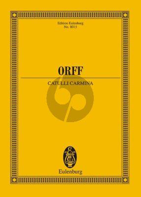 Orff Catulli Carmina Studienpartitur