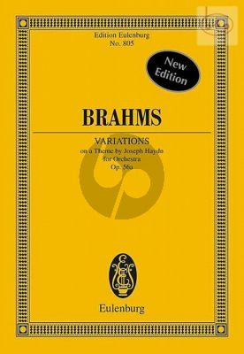 Variations on a Theme by Haydn Op.56A Orchestra (Study Score)