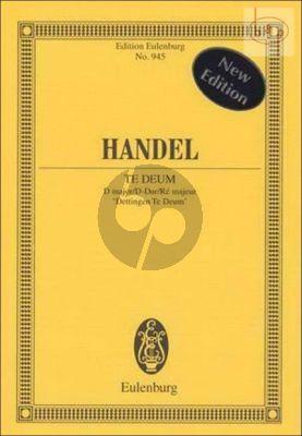 Dettinger Te Deum D-major HWV 283 (Soloists-Chorus- Orch.) (Study Score)