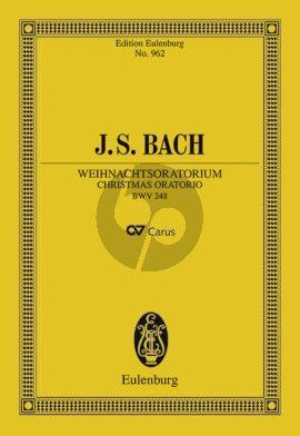 Weihnachtsoratorium BWV 248 Studienpartitur