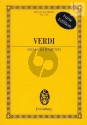 Messa da Requiem (4 Solo Voices-Choir-Orch.) (Study Score)
