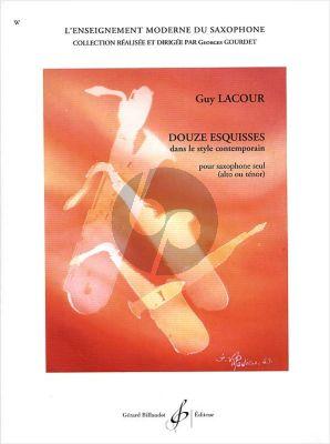 Lacour 12 Esquisses dans le Style Contemporain Saxophone