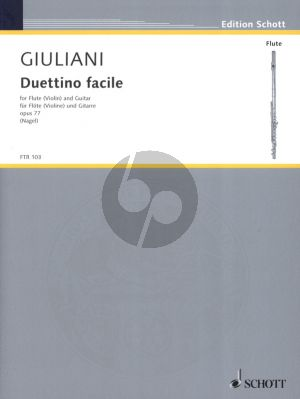 Giuliani Duettino Facile Op.77 Flote[Violine]-Gitarre (Herausgegeben von Frank Nagel)
