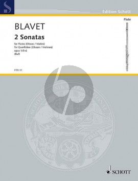 Blavet 2 Duets Op.1 No.5 and 6 2 Flutes (edited by Hugo Ruf) (Grade 3)