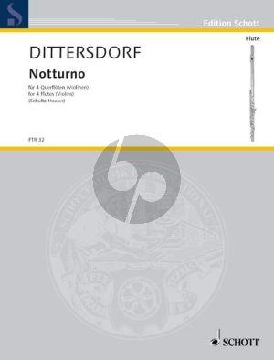 Notturno 4 Flutes or Violins (Set of Parts)