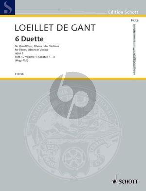 Loeillet 6 Duets Op.5 Vol.1 (No.1-2-5) (2 Flutes/Oboes/ Violins)