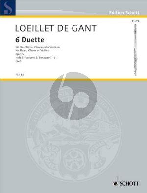 Loeillet 6 Duets Op.5 Vol.2 (No.4-3-6) (2 Flutes/Oboes/ Violins)