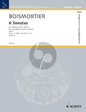 Boismortier 6 Sonaten Op.7 Vol.1 (No.1 - 4 - 3) (edited by Erich Doflein)