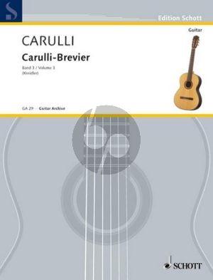 Carulli Brevier Vol.3 Ausgewählte Werke für Gitarre erweitertes Lagenspiel
