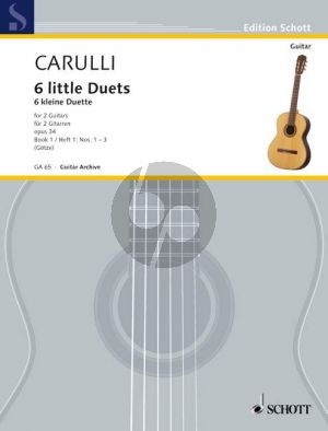 Carulli 6 Little Duets Op.34 Vol.1 2 Guitars (Walter Götze)