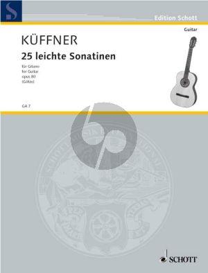 Kuffner 25 Leichte Sonatinen Opus 80 Gitarre (Walter Götze)