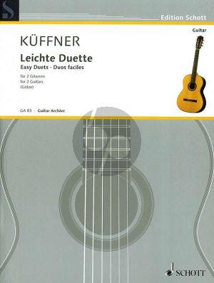 Kuffner 40 Leichte Duette fur 2 Gitarren (Herausgegeben von Walter Goetze)