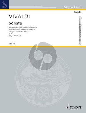 Vivaldi Sonata F-major RV 42 Treble Recorder-Bc (edited by Frank Nagel)