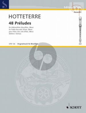 48 Preludes in 24 Tonarten Op.7 Treble Recorder