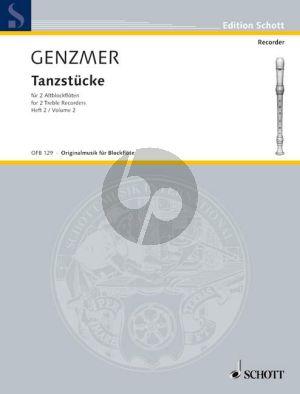 Genzmer Tanzstucke Vol. 2 GeWV 267 2 Altblockflöten