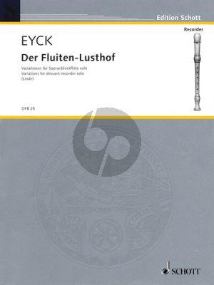 Eyck Fluyten Lusthof (Variations) Descant Recorder