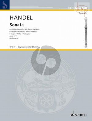 Sonate F-dur Op.1 No.11 HWV 369