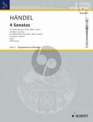 4 Sonaten Altblockflöte-Bc