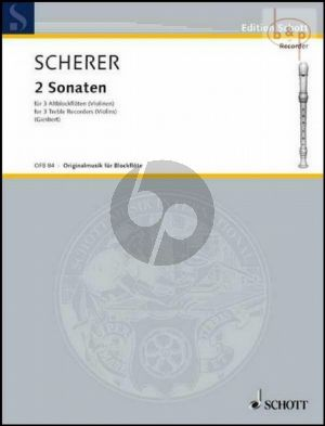 2 Sonatas Op.1 and Op.2 (3 Treble Rec./Violins)