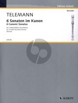Telemann 6 Sonaten im Kanon 2 Altblockflöten oder 2 Querflöten (Greta Richert)