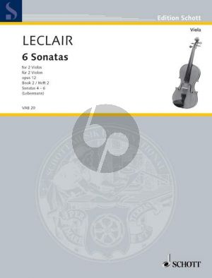 Leclair 6 Sonaten Op.12 Vol.2 2 Violen (Lebermann)