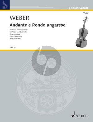 Weber Andante e Rondo Ungarese Viola-Klavier (Georg Schunemann)
