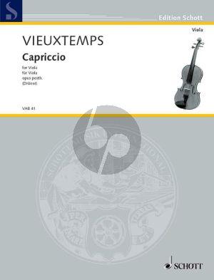 Vieuxtemps Capriccio Op. Post. Viola solo (Ulrich Druner)