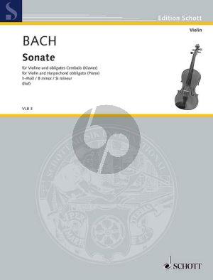 Bach Sonata B-minor WQ 76 Violin-Bc (edited by Ruf) (Grade 4-5)