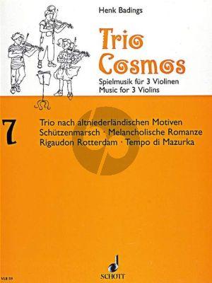 Trio Cosmos No.7 (after Old-Dutch Motifs) 3 Violins