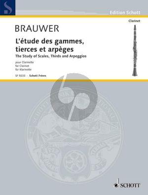 Brauwer Etudes de Gammes tierces et arpeges (Studie van toonladders, tertsen en harpslagen) Klarinet
