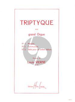 Vierne Triptyque Op. 58 Orgue