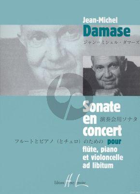 Damase Sonate en Concert Op.17 Flute -Piano and Violoncello ad lib.