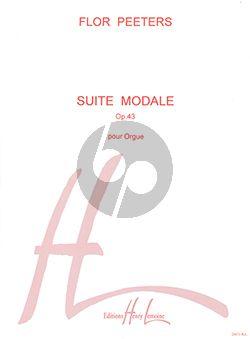 Peeters Suite Modale Op.43 pour Orgue