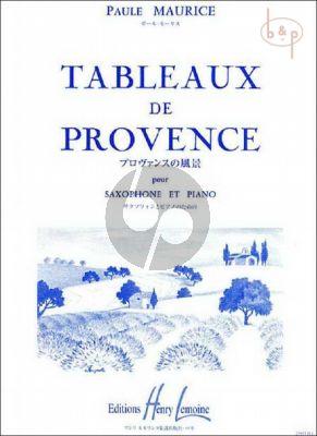Tableaux de Provence Saxophone Alto-Piano