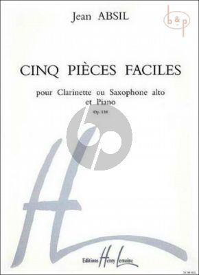 5 Pièces Faciles Op.138 (Alto Sax.[Clarinet]-Piano