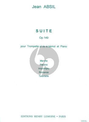 Absil Suite Op. 149 Trompette et Piano