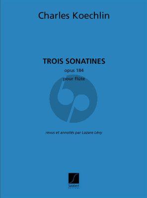 Koechlin 3 Sonatines Op.184 Flute seule