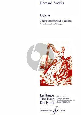Andres Dyades pour 2 Harpes (7 Petits Duos) (element.-interm.)