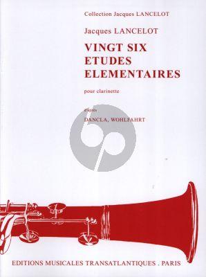 26 Etudes Elementaires clarinette