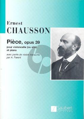 Chausson Piece Op.39 Violoncelle-Piano