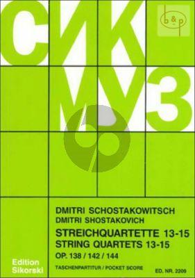 Streichquartette No.13 - 15 Studienpartitur