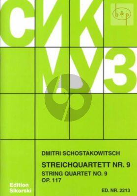 Shostakovich Streichquartett No.9 Op.117 Es-dur Stimmen