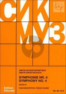 Symphony No.4 Op.43 Study Score