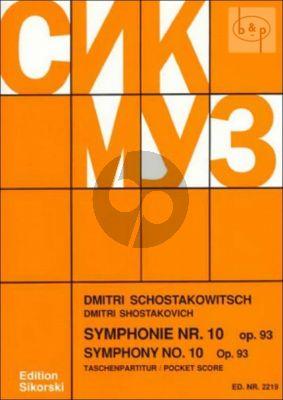 Symphony No.10 Op.93 Study Score