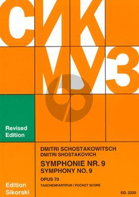 Shostakovich Symphony No.9 Op.70 Study Score (Sikorski)