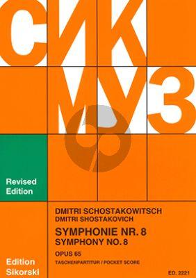 Shostakovich Symphony No.8 Op.65 c-minor Study Score (Sikorski)