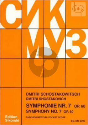 Symphonie No. 7 Op. 60 Studienpartitur