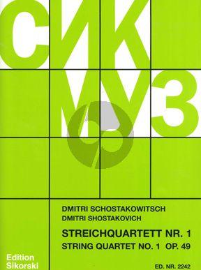 Shostakovich Streichquartett No.1 Op.49 Stimmen