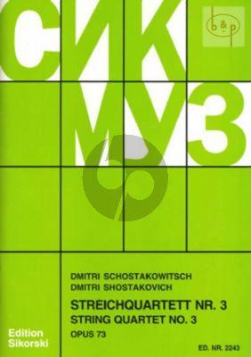 Streichquartett No.3 Op.73 F-dur Stimmen