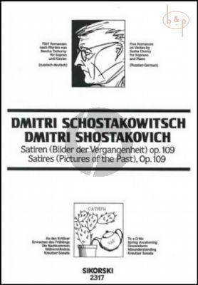 5 Romanzen opus 109 (Sopran) (Satiren-Bilder der Vergangenheit)